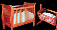 Sleigh Crib and Cradle